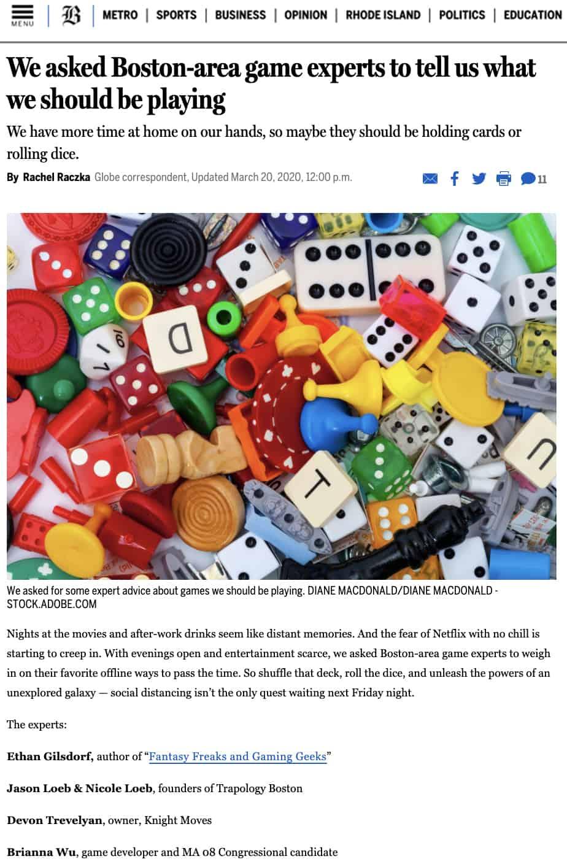 Boston Globe asks Boston gaming expert, Nicole Loeb and Jason Loeb of Trapology Boston