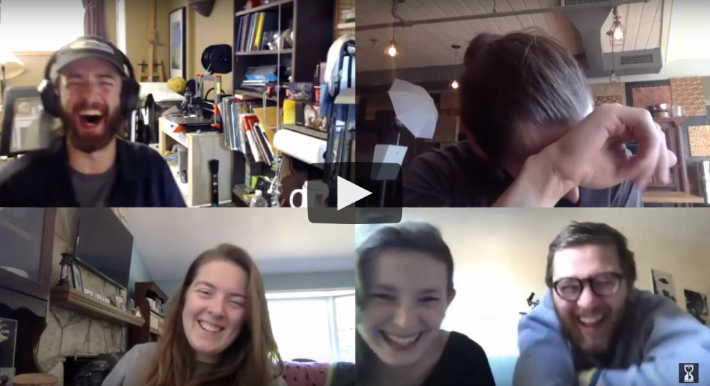 Link to Virtual Trappy Hour video A photo of a team laughing during a Virtual Trappy Hour.  Have fun with your coworkers.